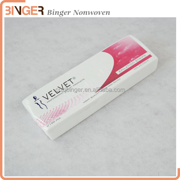 Wholesale OEM Brand Hair Removal Depilatory paper Nonwoven Epilator Wax Strip Paper