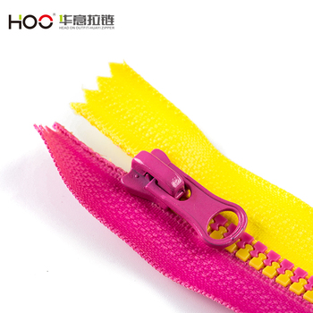 New products 5# colorful teeth zipper plastic zipper