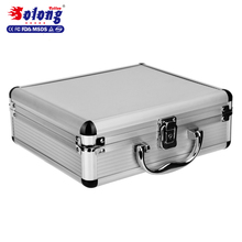 Solong tattoo small size silver aluminum alloy tattoo carrying case