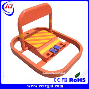 Easy to operate for car parking reserve your car space remote controlled parking lock and parking barrier