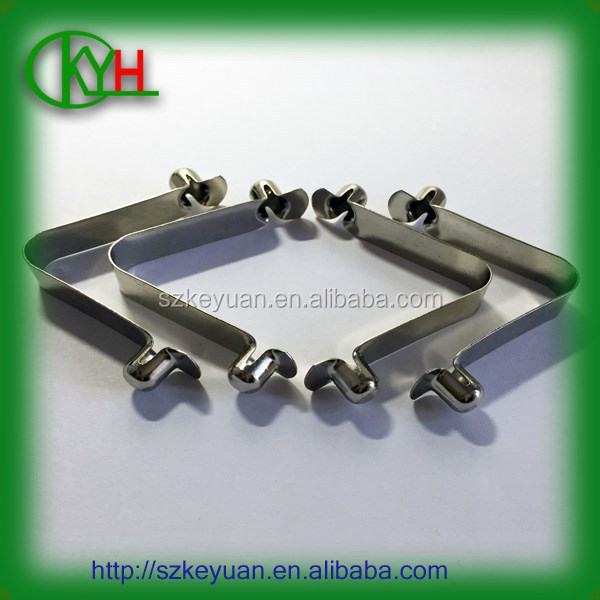 Competitive price stainless steel double spring button clips