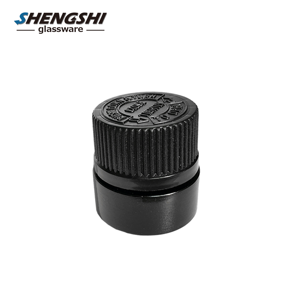 New Arrived 5g empty black cosmetic glass cream jar with screw plastic lids for sample cream use