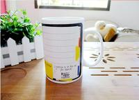 Wholesale 14oz ceramic note mug with pen for writing