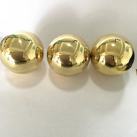 Mirror surface 35mm 50mm 60mm 80mm 90mm 140mm yellow Hollow copper brass ball sphere for bed decoration