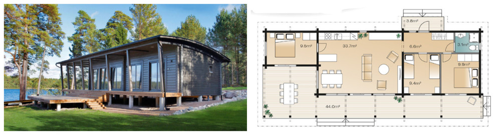 HolidayLeisure Holz/Log Tiny Haus