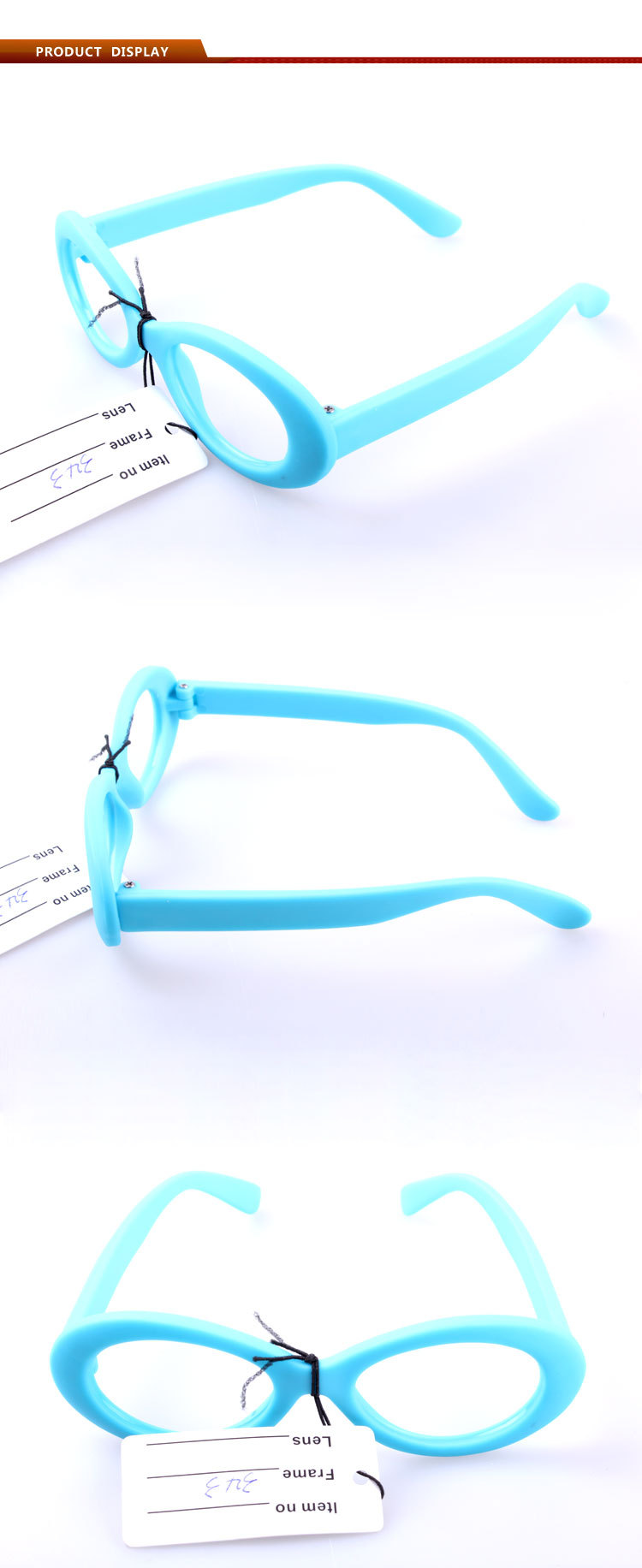 blue color kids plastic glasses with eco-friendly PP material