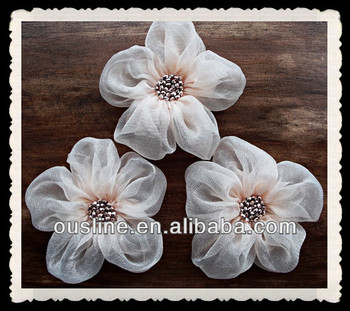Pale pink fabric flowers handmade appliques embellishmentsfabric pale pink fabric flowers handmade appliques embellishments fabric flower embellishments for dresses mightylinksfo