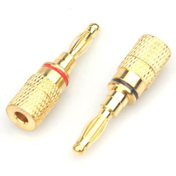 10x 4mm Connettori Banana Plug Maschio Spina Rame Per Altoparlanti Audio 15A