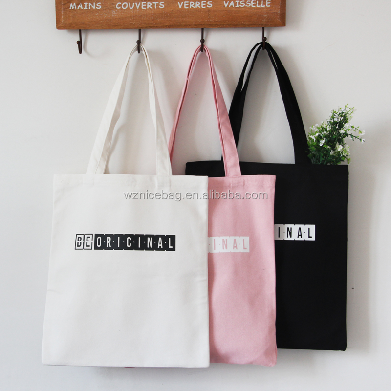 Nicepacking cheap <strong>eco</strong> cotton fabric tote bag with logo printed