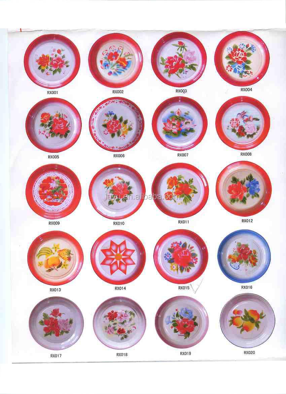 Hot Sale Enamelware Dinnerware Plain And Deco Enamel Plates