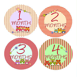 NEW Baby Month Stickers Baby Tribal Arrows Months 1-12 Monthly Age Sticker