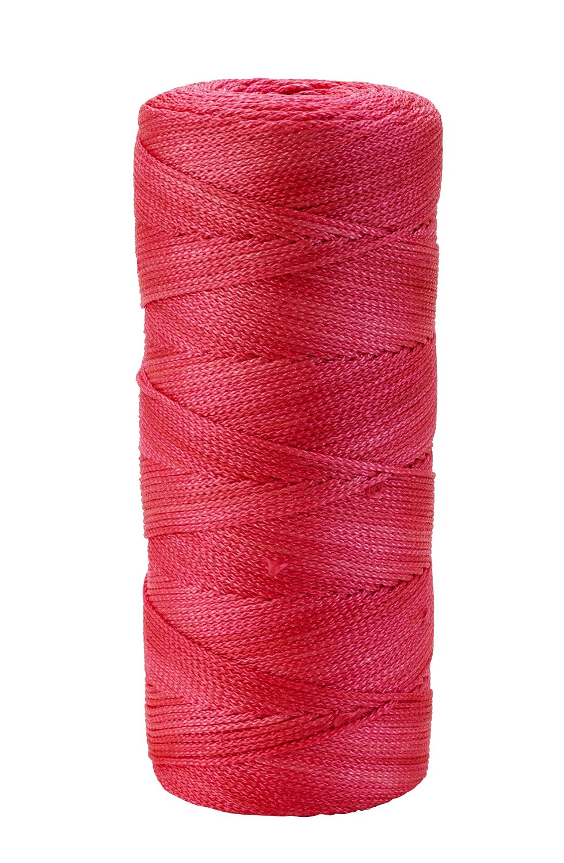 Mutual Industries 14661-175-550 Nylon Mason Twine, 1/2 lb. Twisted, 18 x 500', Glo Pink (Pack of 6)
