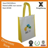 2016 Cheapest fashion promotion non woven shopping bag for building material bag