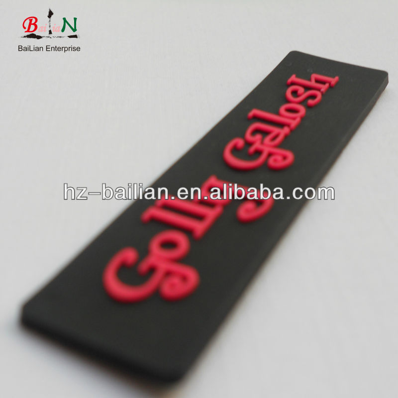 Custom own designed 3D soft pvc label