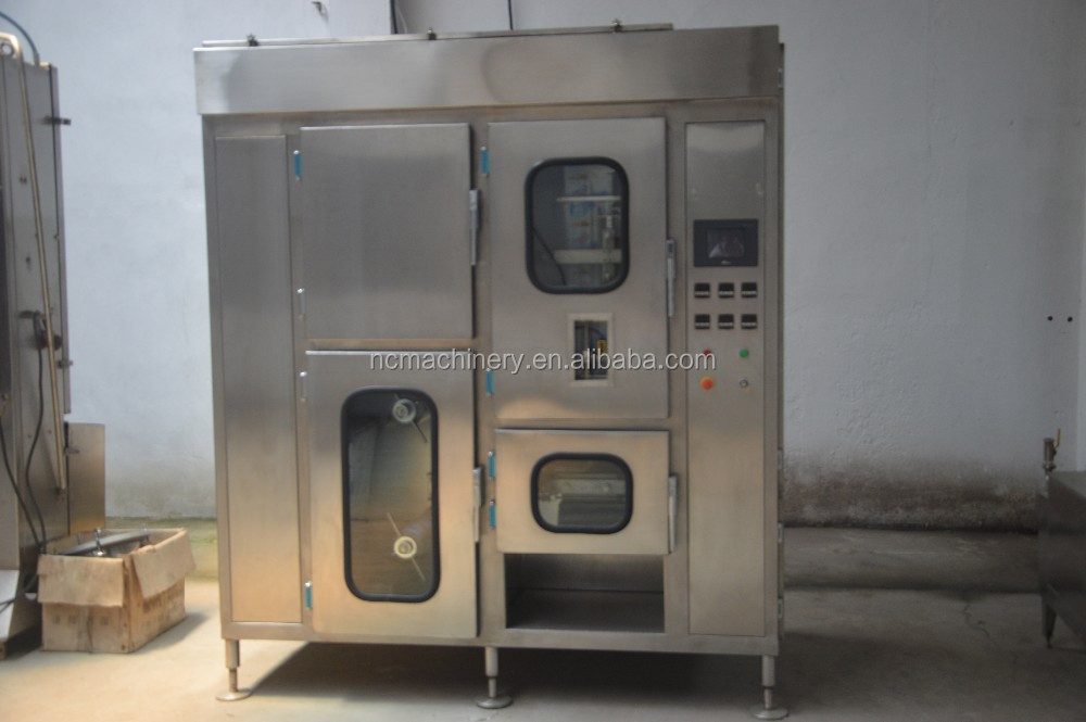 Fully automatic aseptic milk pouch filling and sealing machine