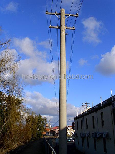 Pushing Method Concrete Street Light Poles Precast Electric ...