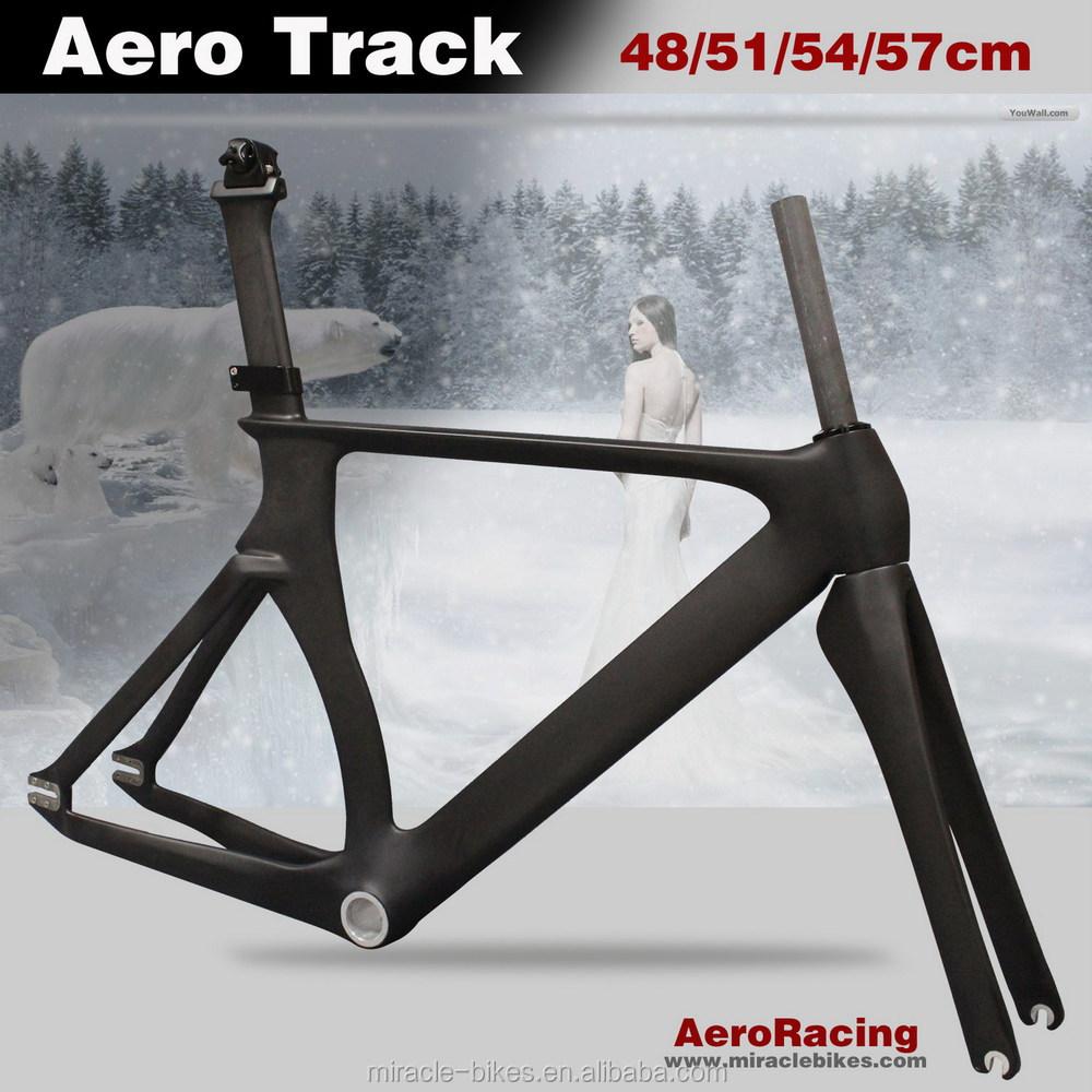 2016 Miracle Wholesale Bike Frames Carbon 700c Track Frame 52 54cm