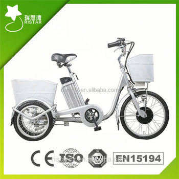 Green 36v 250w Electric Motor 3 Wheel Bike With En15194 Certificate