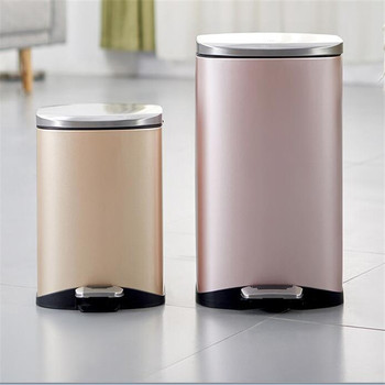 High Quality Intelligent Luxury Trash Can Golden Trash Can Kitchen Trash  Can - Buy Luxury Trash Can,Intelligent Trash Can,Unique Trash Cans Product  on ...