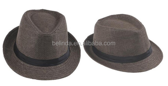 e8eb98fc7dfb9 Summer Style Child Sun hat Beach Sunhat Fedora hat Trilby Straw panama Hat  boy girl Gangster