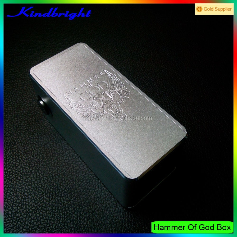 2015 new arrival box mod Explorer e cig mods dual 18650 battery hammer of god box mod clone on sale