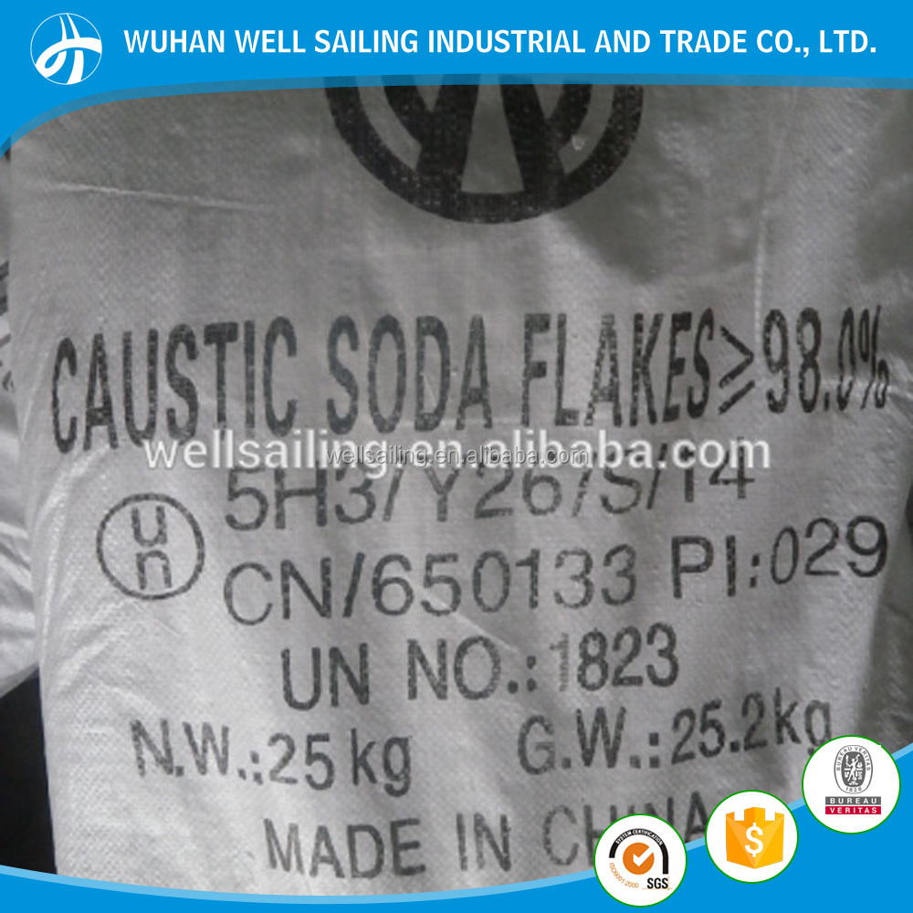 Price Caustic Soda Flakes 98% TianYe brand caustic soda