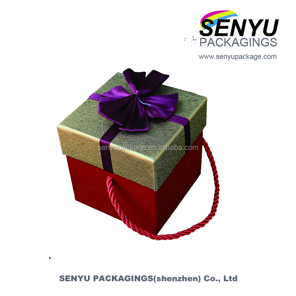 jewelry lid and base gift cardboard boxes with artificial flowers