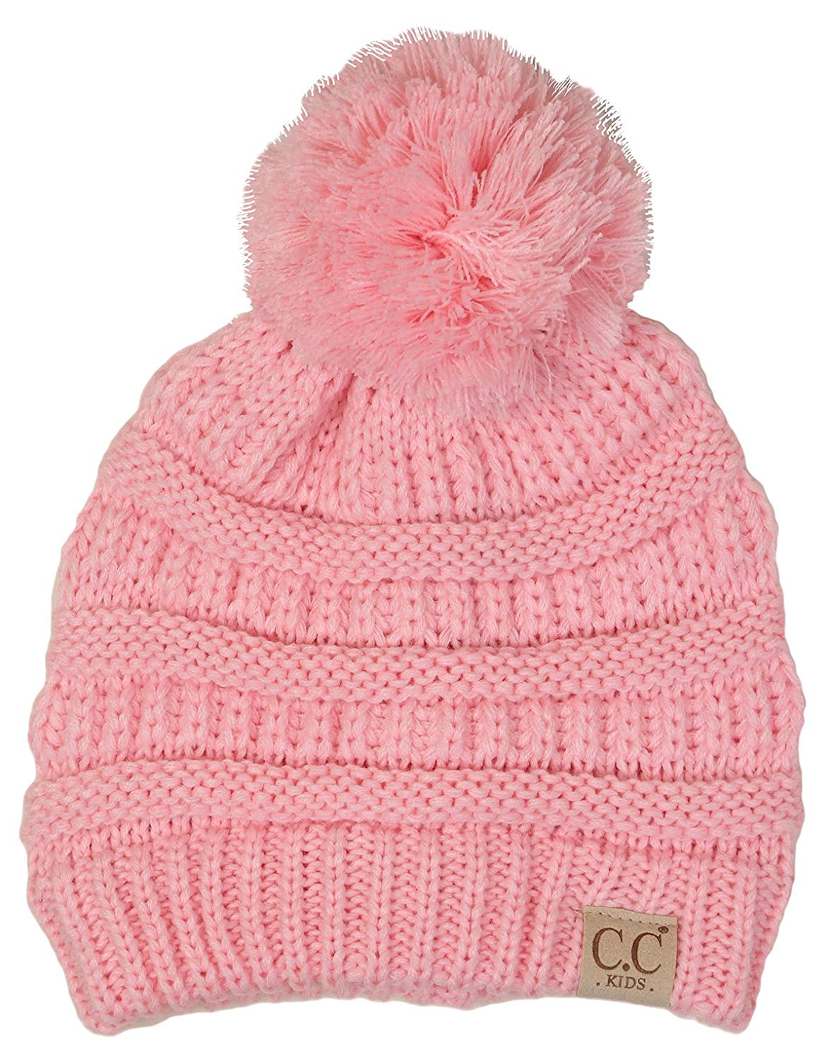 266c7b4f430 Get Quotations · Funky Junque CC Kids Baby Toddler Cable Knit Children s  Pom Winter Hat Beanie