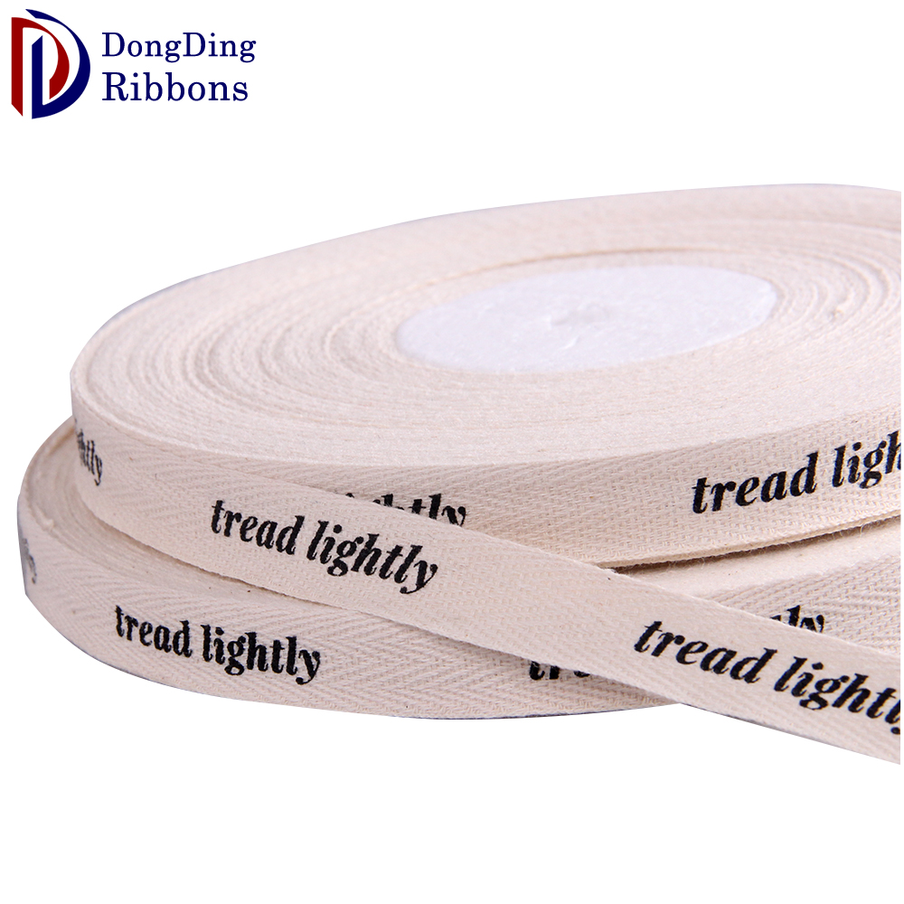 High quality 1 inch cotton ribbon used for decoration