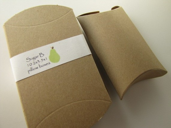 Customize, High quality kraft paper pillow box