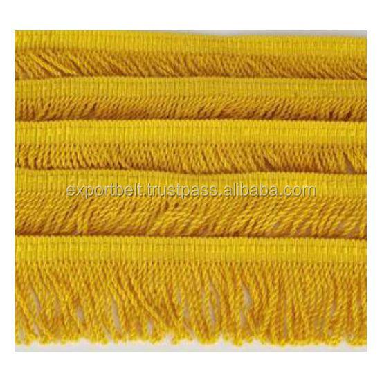 Metallic Gold /& Multi Coloured Fringe Decorative Trimming