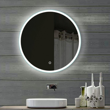 Heated Led Bathroom Mirrorwith Clock Toilet Mirror With