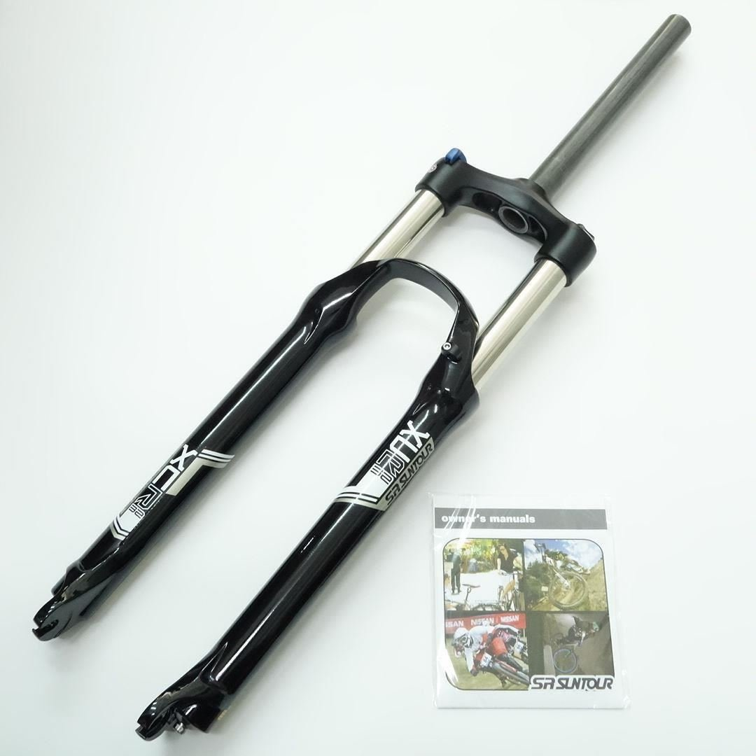 """new Suntour XCR MTB Bike Fork 26/""""  Coil Rebound regulation Lock cone  Brake 32mm"""