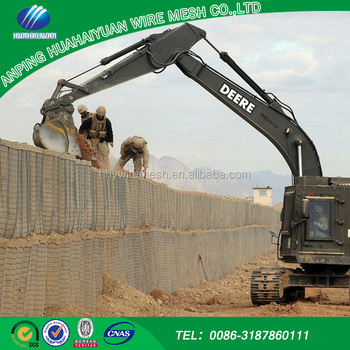 Galfan coated after welded iraq hesco barrier shipping from china