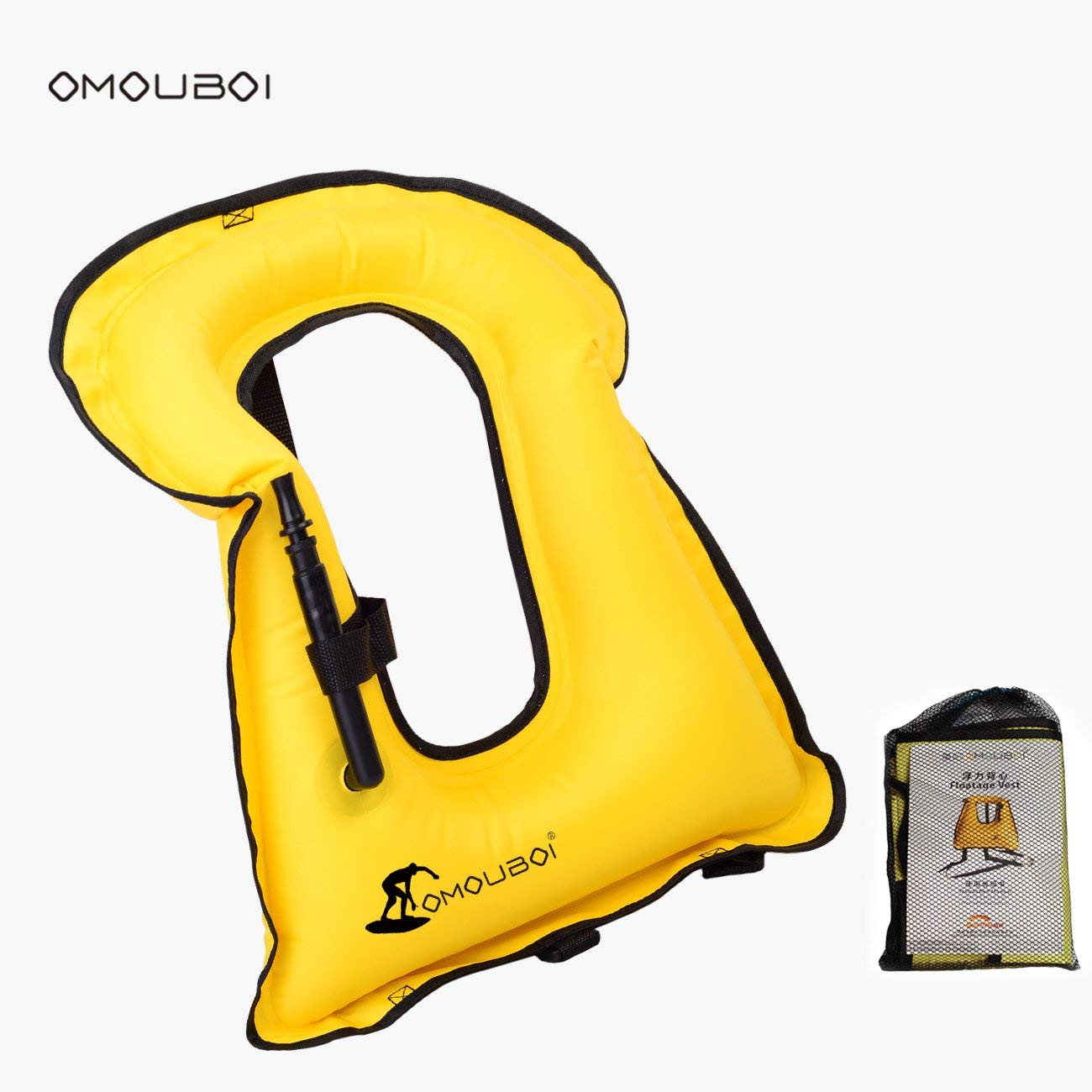 SUNNY LIFE JACKETS OMOUBOI Unisex Adult Portable Inflatable Canvas Life Jacket Snorkel Vest For Diving Safety