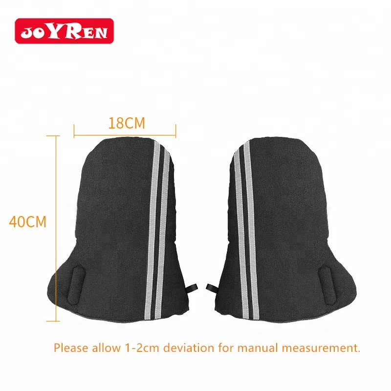 Manufacturer light weight safety warm winter reflective stripe thicken stroller handmuff