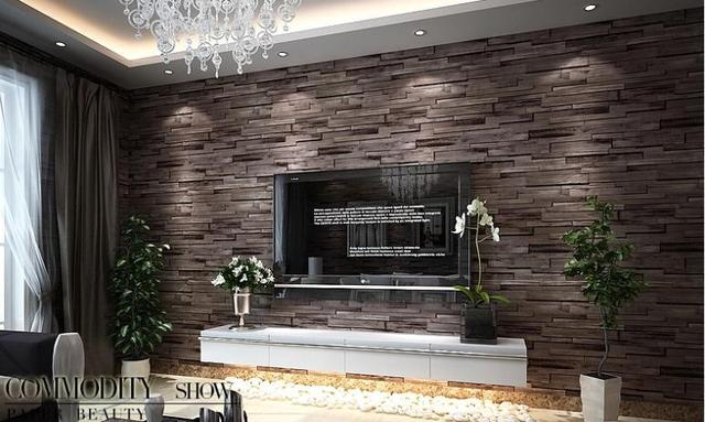 pvc wood stone brick wallpaper 3d modern wall paper luxury classic vintage wallpaper living room. Black Bedroom Furniture Sets. Home Design Ideas