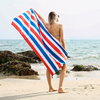 Absorbent quick dry microfiber custom printing beach travel towel