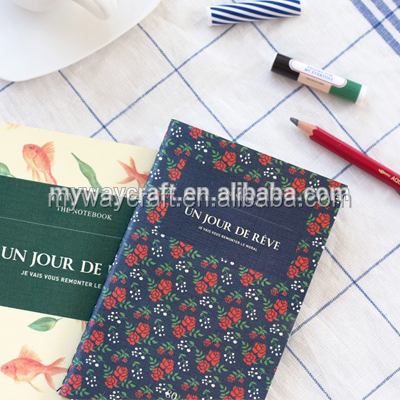 Novelty daily travelers notebook planner diary notebook for wholesale