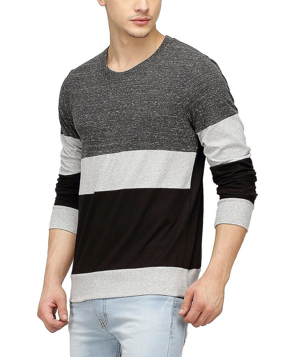 Clothing Manufacturers Overseas Men Tri Colour Full Sleeve