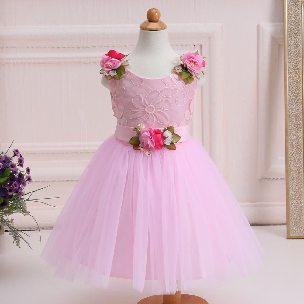 Último vestido de niña de las flores vestido de fiesta occidental ...