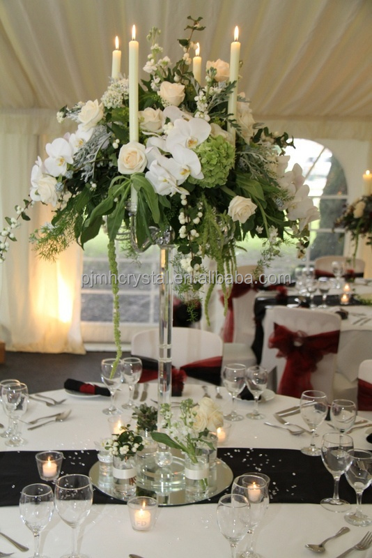 Large Crystal Candelabra For Wedding Centerpiece Decoration MH 1313