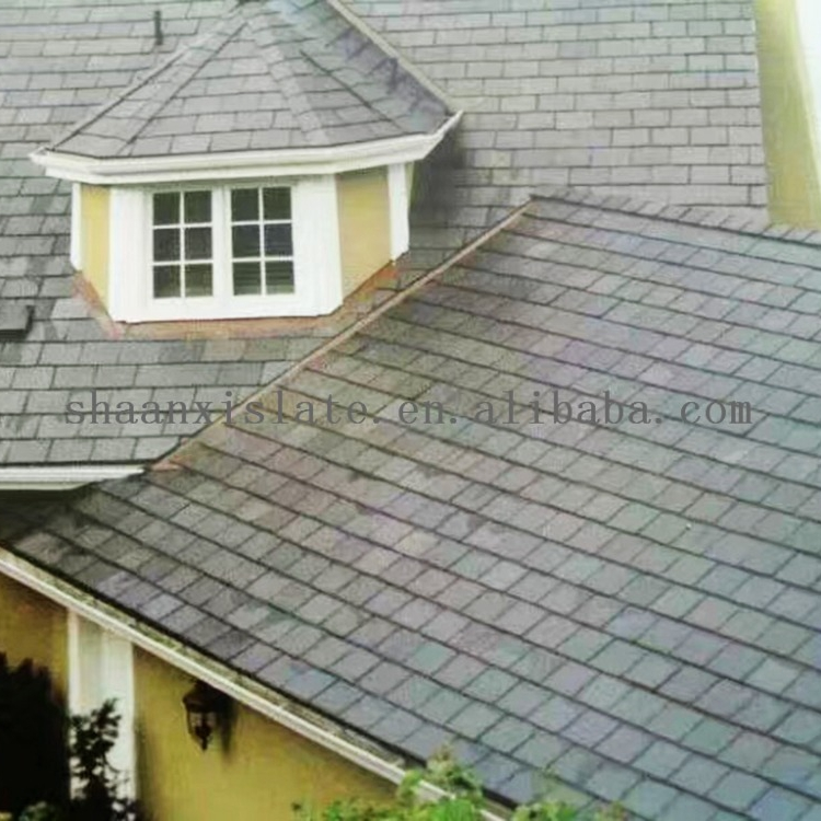 Black Natural Roofing Tiles Thin Slate