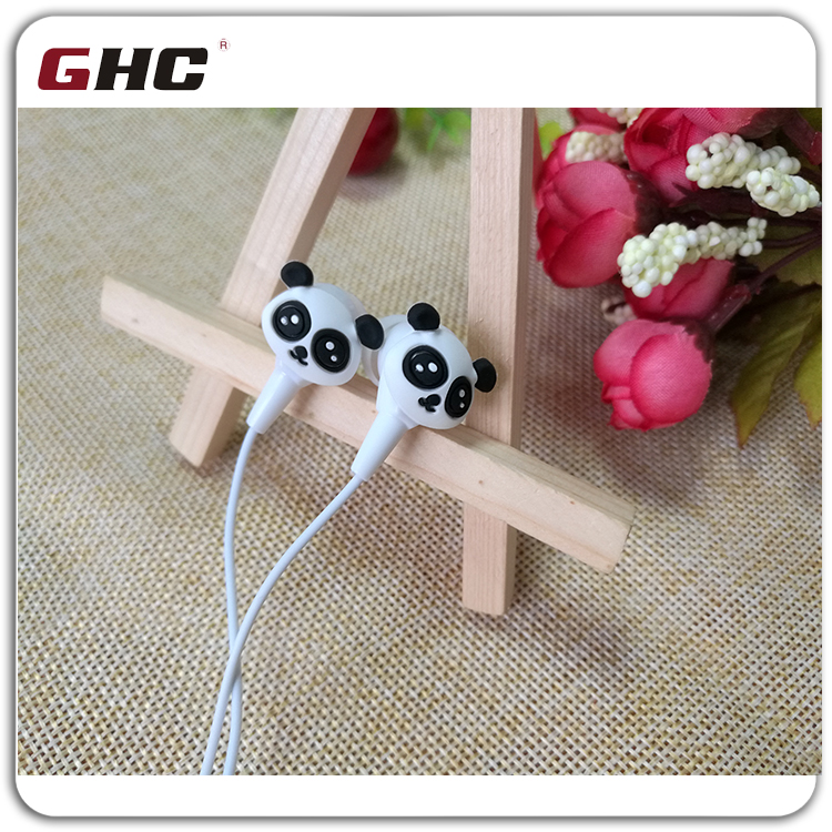 2D panda wired cheap earbuds jack for earphone