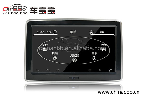 car back seat passengers headrest monitor with android touchscreen HD1080P display