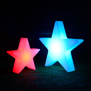 Wholesale waterproof cordless remote plastic star shaped lamp outdoor indoor for decorative party holiday LED lamp