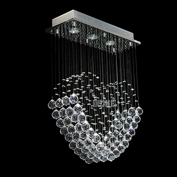 Excellent Fancy Oval Love Shape Led Hanging Crystal Pendant Lamp ...
