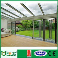 70 fancy customized sliding exterior diy frameless glass folding door 23FD