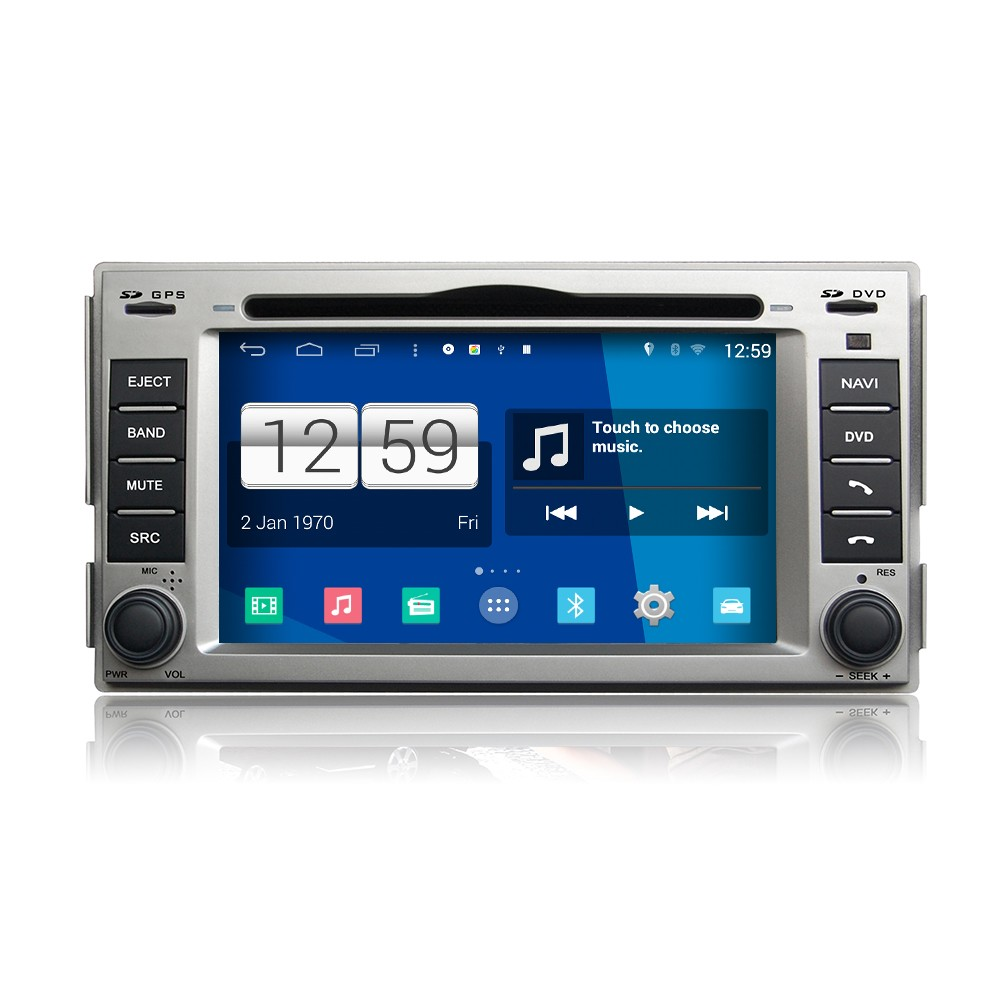 Wholesale HD 1024*600 Capacitive Screen for Hyundai New Santa Fe pure android 4.4 car dvd player GPS