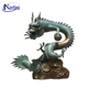 Factory custom antique metal outdoor large bronze Chinese dragon statue with ball
